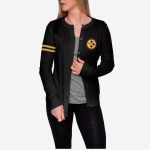 Pittsburgh Steelers Womens Varsity Cardigan - L