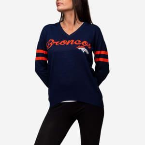 Denver Broncos Womens Vintage Stripe Sweater - M