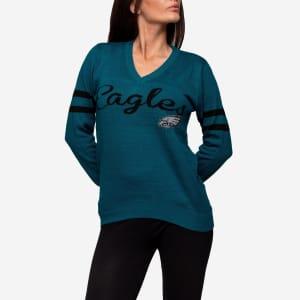 Philadelphia Eagles Womens Vintage Stripe Sweater - L