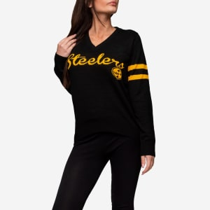 Pittsburgh Steelers Womens Vintage Stripe Sweater - S