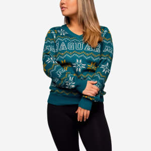 Jacksonville Jaguars Womens Light Up V-Neck Bluetooth Sweater