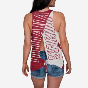Indiana Hoosiers Womens Tie-Breaker Sleeveless Top - L