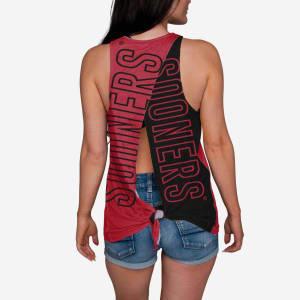 Oklahoma Sooners Womens Tie-Breaker Sleeveless Top - L