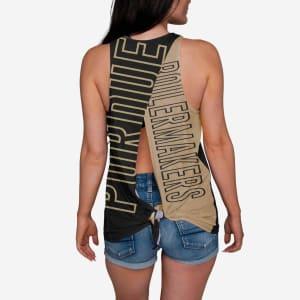 Purdue Boilermakers Womens Tie-Breaker Sleeveless Top - L
