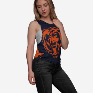 Chicago Bears Womens Side-Tie Sleeveless Top - M