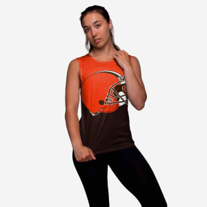 Cleveland Browns Womens Strapped V-Back Sleeveless Top - S