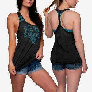 Jacksonville Jaguars Womens Team Twist Sleeveless Top - M