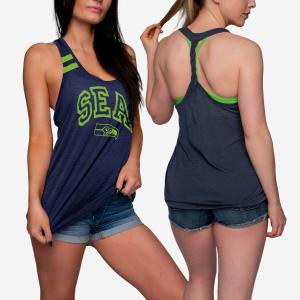 Seattle Seahawks Womens Team Twist Sleeveless Top - L