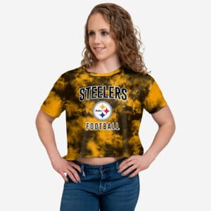 Pittsburgh Steelers Womens To Tie-Dye For Crop Top