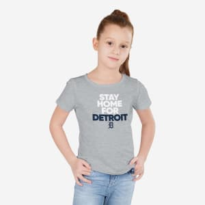 Detroit Tigers Girls Stay Home City T-Shirt - 10/12 (M)