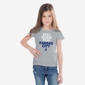Kansas City Royals Girls Stay Home City T-Shirt - 14 (L)