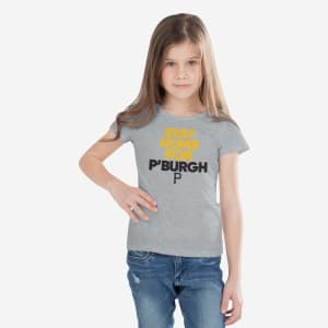 Pittsburgh Pirates Girls Stay Home City T-Shirt - 7/8 (S)