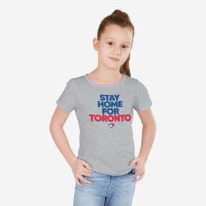 Toronto Blue Jays Girls Stay Home City T-Shirt - 7/8 (S)