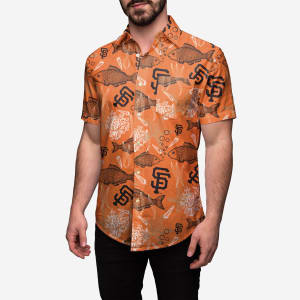 San Francisco Giants Floral Button Up Shirt - S
