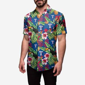 Texas Rangers Floral Button Up Shirt - XL