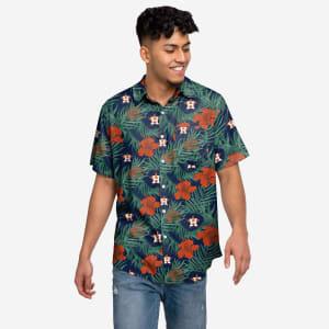Houston Astros Hibiscus Button Up Shirt - XL
