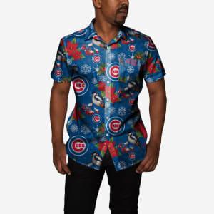 Chicago Cubs Mistletoe Button Up Shirt - 2XL