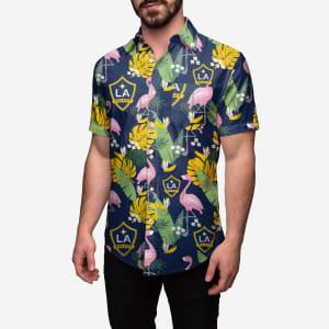 LA Galaxy Floral Button Up Shirt - L