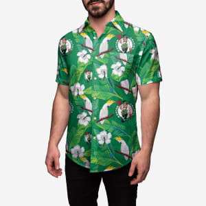 Boston Celtics Floral Button Up Shirt