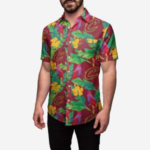 Cleveland Cavaliers Floral Button Up Shirt - 2XL