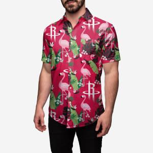 Houston Rockets Floral Button Up Shirt - S