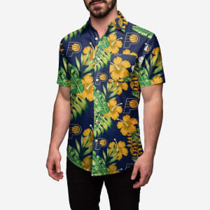 Indiana Pacers Floral Button Up Shirt - S