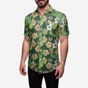Milwaukee Bucks Floral Button Up Shirt - L