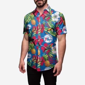 Philadelphia 76ers Floral Button Up Shirt - XL