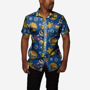 Golden State Warriors Mistletoe Button Up Shirt - L