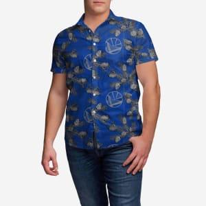 Golden State Warriors Pinecone Button Up Shirt - 3XL