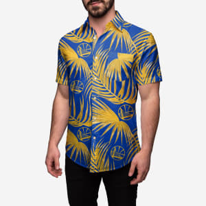 Golden State Warriors Hawaiian Button Up Shirt - S