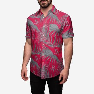 Houston Rockets Hawaiian Button Up Shirt - S