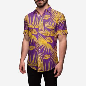 Los Angeles Lakers Hawaiian Button Up Shirt - M