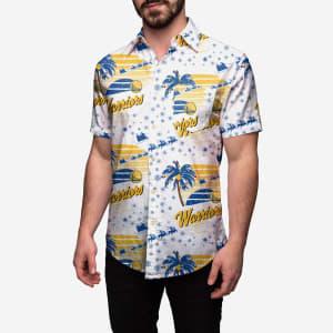 Golden State Warriors Winter Tropical Button Up Shirt - L
