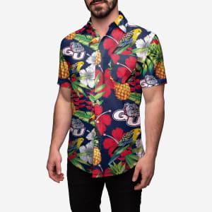 Gonzaga Bulldogs Floral Button Up Shirt - XL