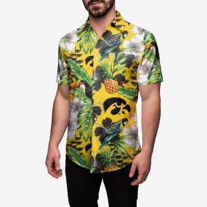 Iowa Hawkeyes Floral Button Up Shirt - XL