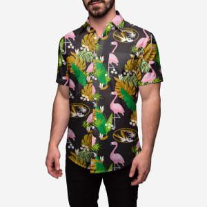Missouri Tigers Floral Button Up Shirt - 3XL