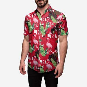 Nebraska Cornhuskers Floral Button Up Shirt