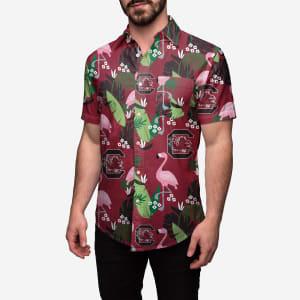 South Carolina Gamecocks Floral Button Up Shirt - L