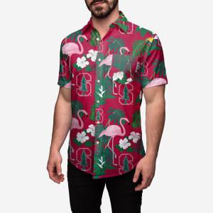 Stanford Cardinal Floral Button Up Shirt