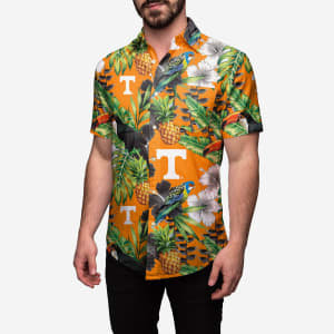 Tennessee Volunteers Floral Button Up Shirt - M