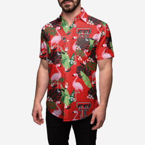 Texas Tech Red Raiders Floral Button Up Shirt - XL