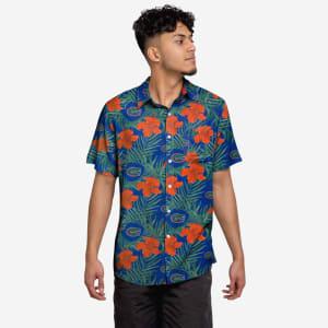 Florida Gators Hibiscus Button Up Shirt - XL