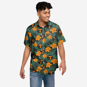 Tennessee Volunteers Hibiscus Button Up Shirt - M