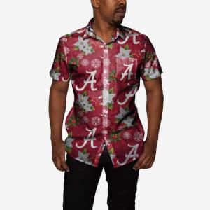 Alabama Crimson Tide Mistletoe Button Up Shirt