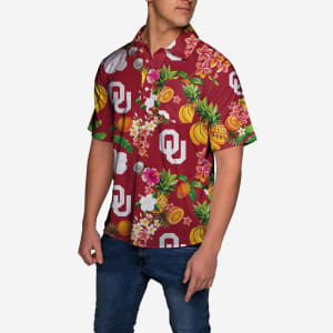 Oklahoma Sooners Fruit Flair Short Sleeve Polo Shirt - 3XL