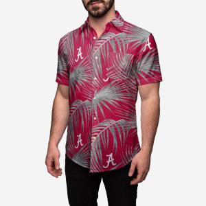 Alabama Crimson Tide Hawaiian Button Up Shirt - M