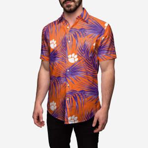 Clemson Tigers Hawaiian Button Up Shirt - 3XL