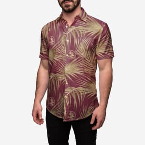 Florida State Seminoles Hawaiian Button Up Shirt - XL
