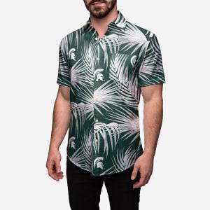 Michigan State Spartans Hawaiian Button Up Shirt - M